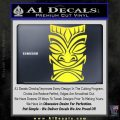 Tiki Decal Sticker D1 Yellow Vinyl Black 120x120
