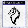 Tribal Wolf Head Decal Sticker D2 Black Vinyl 120x120