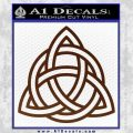 Trinity Knot Triquetra Decal Sticker BROWN Vinyl 120x120
