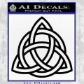 Trinity Knot Triquetra Decal Sticker Black Vinyl 120x120