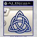Trinity Knot Triquetra Decal Sticker Blue Vinyl 120x120