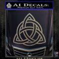Trinity Knot Triquetra Decal Sticker Carbon FIber Chrome Vinyl 120x120