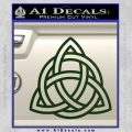 Trinity Knot Triquetra Decal Sticker Dark Green Vinyl 120x120