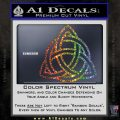 Trinity Knot Triquetra Decal Sticker Glitter Sparkle 120x120