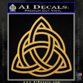 Trinity Knot Triquetra Decal Sticker Gold Vinyl 120x120