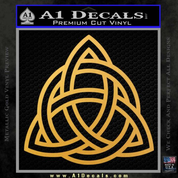 Trinity Knot Triquetra Decal Sticker Gold Vinyl