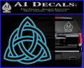 Trinity Knot Triquetra Decal Sticker Light Blue Vinyl 120x97