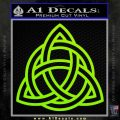 Trinity Knot Triquetra Decal Sticker Lime Green Vinyl 120x120