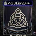 Trinity Knot Triquetra Decal Sticker Metallic Silver Emblem 120x120