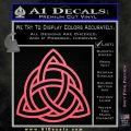 Trinity Knot Triquetra Decal Sticker Pink Emblem 120x120