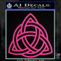 Trinity Knot Triquetra Decal Sticker Pink Hot Vinyl 120x120
