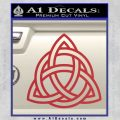 Trinity Knot Triquetra Decal Sticker Red 120x120