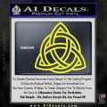 Trinity Knot Triquetra Decal Sticker Yellow Laptop 120x120