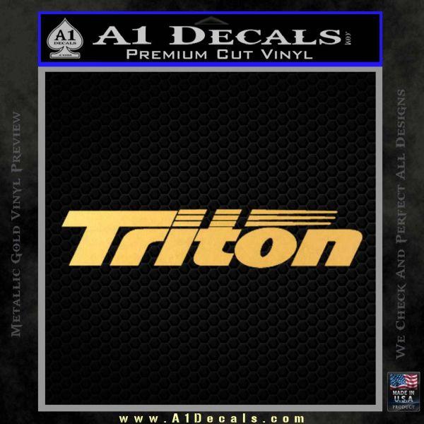 Triton Boat Decal Sticker Gold Vinyl