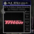 Triton Boat Decal Sticker Pink Emblem 120x120