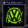 VW Splat D1 Decal Sticker Lime Green Vinyl 120x120