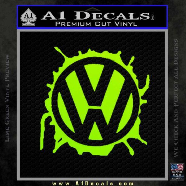 VW Splat D1 Decal Sticker » A1 Decals