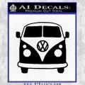VW Van Front D1 Decal Sticker Black Vinyl 120x120