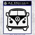 VW Van Front D2 Decal Sticker Black Vinyl 120x120