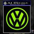 VW Volkswagen Logo Decal Sticker Lime Green Vinyl 120x120