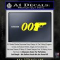 007 PPK James Bond Walther Decal Sticker D2 Yellow Laptop 120x120