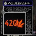 420 Leaf Decal Sticker Orange Emblem 120x120