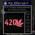 420 Leaf Decal Sticker Pink Emblem 120x120