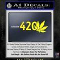 420 Leaf Decal Sticker Yellow Laptop 120x120