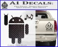 Android Rockin Out Music Decal Sticker Carbon FIber Black Vinyl 120x97