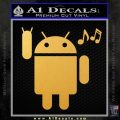 Android Rockin Out Music Decal Sticker Gold Vinyl 120x120