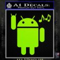 Android Rockin Out Music Decal Sticker Lime Green Vinyl 120x120