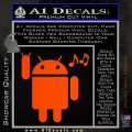 Android Rockin Out Music Decal Sticker Orange Emblem 120x120