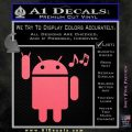Android Rockin Out Music Decal Sticker Pink Emblem 120x120