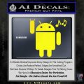 Android Rockin Out Music Decal Sticker Yellow Laptop 120x120