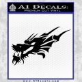 Asian Dragon Head Decal Sticker Black Vinyl 120x120