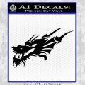 Asian Dragon Head Decal Sticker Black Vinyl 120x120