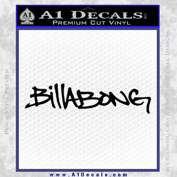 Billabong Skate Decal D1 2 Pack Black Vinyl