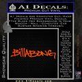 Billabong Skate Decal D1 2 Pack Orange Emblem 120x120