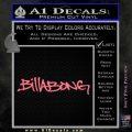 Billabong Skate Decal D1 2 Pack Pink Emblem 120x120