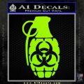 Biohazard Grenade Decal Sticker Lime Green Vinyl 120x120