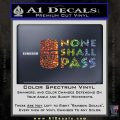 Black Knight None Shall Pass Monty Python Decal Sticker Glitter Sparkle 120x120