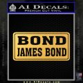 Bond James Bond Decal Sticker 007 Gold Vinyl 120x120