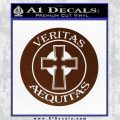 Boondock Saints Veritas Aequitas D3 Decal Sticker BROWN Vinyl 120x120