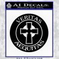 Boondock Saints Veritas Aequitas D3 Decal Sticker Black Vinyl 120x120