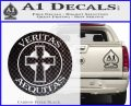 Boondock Saints Veritas Aequitas D3 Decal Sticker Carbon FIber Black Vinyl 120x97