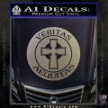 Boondock Saints Veritas Aequitas D3 Decal Sticker Carbon FIber Chrome Vinyl 120x120