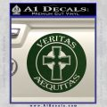 Boondock Saints Veritas Aequitas D3 Decal Sticker Dark Green Vinyl 120x120