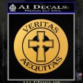 Boondock Saints Veritas Aequitas D3 Decal Sticker Gold Vinyl 120x120