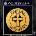 Boondock Saints Veritas Aequitas D3 Decal Sticker Gold Vinyl 120x120
