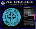 Boondock Saints Veritas Aequitas D3 Decal Sticker Light Blue Vinyl 120x97